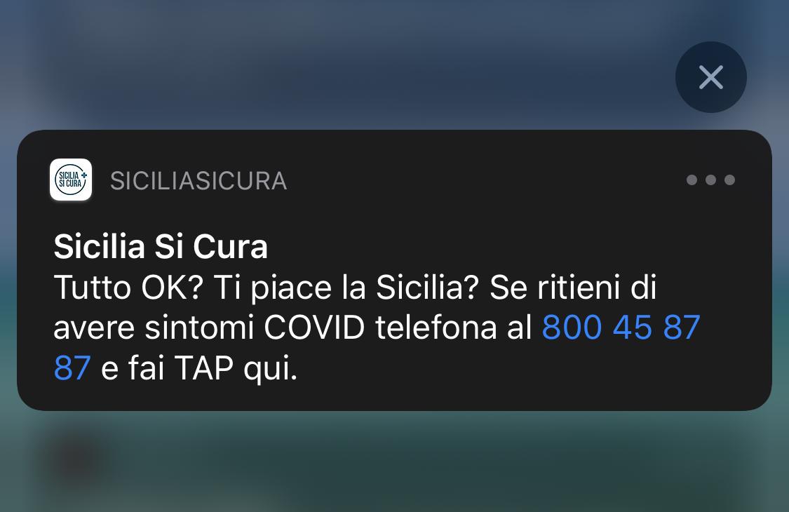 Sicilia Sicura notifica App